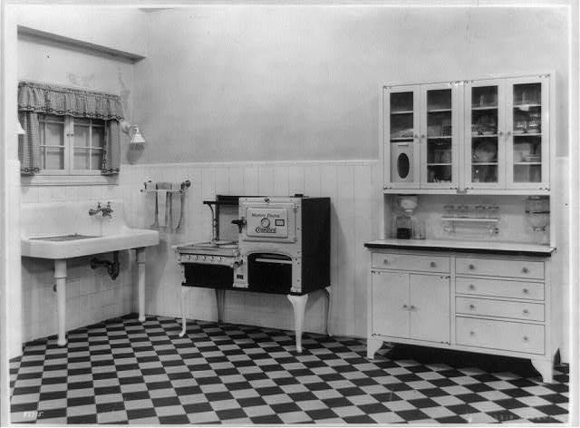 A model electric kitchen, 1924.